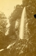Allemagne Chute De Bad Urach Waterfall Ancienne Photo CDV Schmid 1870's - Photographs