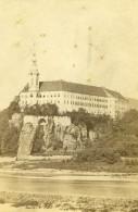 Tchequie Decin  Chateau De Tetschen Riviere Elbe Ancienne Photo CDV 1865 - Photographs