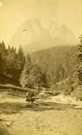 Allemagne Baviere Hochland Partenkirchen Hammersbach Ancienne Photo CDV Johannes 1870 - Photos
