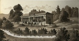 Allemagne Baden Baden Trinkhalle Ancienne Photo CDV De Gravure Frey 1870 - Photographs