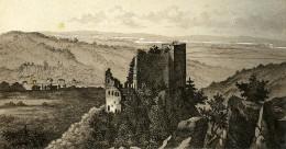 Allemagne Baden Baden Altes Schloss Château En Ruines Ancienne Photo CDV Frey 1870 - Photographs