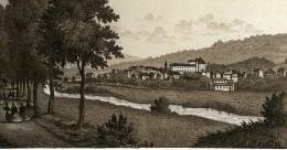 Allemagne Baden Baden Panorama Ancienne Photo CDV Frey 1870 - Photographs