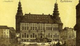 Allemagne Aachen Aix La Chapelle Hotel De Ville Rathaus Ancienne Photo CDV 1870 - Photographs