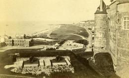 France Dieppe Plage Et Casino Panorama Ancienne Photo CDV Neurdein 1870 - Photographs