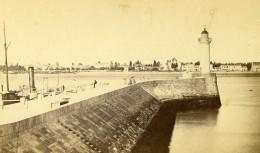 France Dieppe La Jetee Ancienne Photo CDV Charles 1870 - Photographs