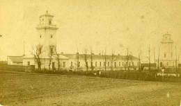 France Le Havre Phares De Sainte Adresse Lighthouse La Hève Ancienne Photo CDV Neurdein 1870 - Photographs