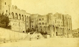 France Avignon Palais Des Papes Ancienne Photo CDV Neurdein 1870 - Photographs