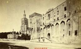 France Avignon Palais Des Papes Cathedrale Ancienne Photo CDV Neurdein 1870 - Photographs