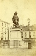France Dieppe Statue De Duquesne Ancienne Photo CDV Neurdein 1870 - Photographs
