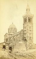 France Marseille Basilique Notre Dame De La Garde Ancienne Photo CDV 1870 - Photographs
