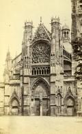 France Dieppe église Saint Jacques Ancienne Photo CDV Neurdein 1870 - Photographs