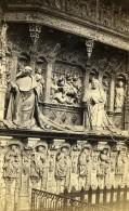 France Rouen Cathedrale Tombeau Des Cardinaux D'Amboise Ancienne Photo CDV Neurdein 1870 - Photographs