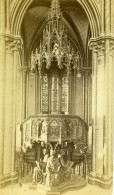 France Rouen Eglise De Bonsecours La Chaire Ancienne Photo CDV Neurdein 1870 - Photographs