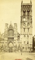 France Dieppe église Saint Jacques Ancienne Photo CDV Neurdein 1870 - Old (before 1900)
