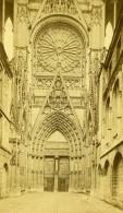 France Rouen Cathedrale Portail Des Libraires Ancienne Photo CDV Neurdein 1870 - Photographs