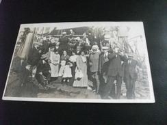 STORIA POSTALE FRANCOBOLLO REGNO D'ITALIA COLONIA ERITREA ASMARA 1910 FOTOGRAFICA  FOTO DI GRUPPO SULLA NAVE SHIP - Eritrea