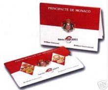 Monaco 2001 : Série BU Des 8 Pièces (en Coffret NON-scellé) - DISPONIBLE EN FRANCE - Monaco