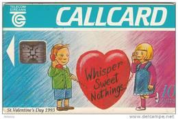 "IRELAND - St.Valentine""s Day, Chip SC5, 01/93, Used - Ireland"