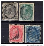CANADA 1898 QV 4 Values (0.5c, 1c, 2c, 5c) Used - Gebraucht