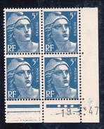 France YT 719B Gandon CD 19/07/47 N** MNH - Coins Datés