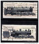 CANADA 1985 Locomotives 34c (P2a), 68c (H4D)  Used - 1952-.... Reign Of Elizabeth II