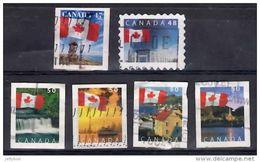 CANADA 1989 Flags Self-adhesive Die-cut 47c, 48c, 50c X 4 Designs Used - Used Stamps