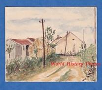 Aquarelle Ancien De L. Gauthier - MONTPRISY ( Nièvre ) - Septembre 1943 - Art Artiste Peinture Peintre - Watercolours