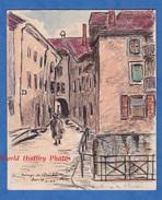 Aquarelle & Crayon De Décembre 1943 Par L. Gauthier - ANNECY - Le Passage De L' Evèché - Haute Savoie - Dessins