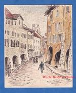 Aquarelle & Crayon De Décembre 1943 Par L. Gauthier - ANNECY - Rue Sainte Claire - Haute Savoie - Dessins