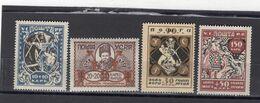RUSSIA (UKRAINE) YR 1923,SC B1-4,MI 67A-70A,MNH **,DISTRIBUTING FOOD - Ukraine & West Ukraine