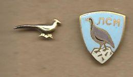 Hunting Federation Of Macedonia.2 Pins.birds - Badges