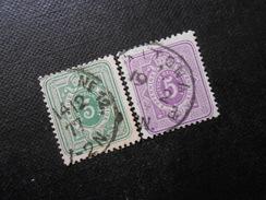 D.R.Mi 31a/32 - 3/5Pf(e)  1875 - Mi 12,00 € - Used Stamps