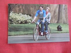 Nancy Reagan & Ron Jr. Riding A Bicycle   ====== Ref 2792 - Famous Ladies