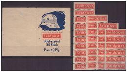 Dt- Reich (005136) Propaganda Feldpostmarkenheftchen Mit Feldpost Klebezettel Nicht Komplett!! - Allemagne