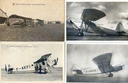 Aviation - Lot De 12 Cartes - Istres Aviation , Phalène, Morane, Farman Gipsy, Potez, Puss Moth, SPCA - Avions