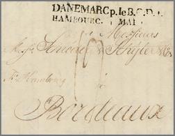 19 DANEMARC P.le.B.G.D.4. HAMBOURG - Stamps