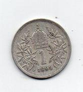 Austria - 1894 - 1 Corona - Francesco Giuseppe - Argento - Vedi Foto - (MW1007) - Austria