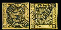 117 3 Kr. Schw./dunkelgelb Bzw - Germany