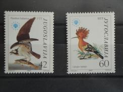 Oiseaux Birds 1985 Yougoslavie Yv 1978/9 Scott 1728/9 Michel 2100/01  SG 2202/3 - Oiseaux