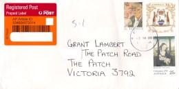 Australia 2018 Domestic Registered Envelope With 45c Hollows, WA Coat Of Arms - 2010-... Elizabeth II