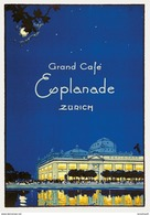 Grand Café Esplanade Zürich 1930 - Postcard Reproduction - Publicité