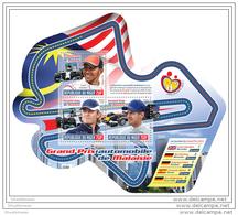 NIGER 2014 ** S/S 3v Malaysian Grand Prix Formel 1 Hamilton Rossberg Vettel Malaisie Grand Prix A1451 - Cars