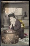 ASIE - CHINE - Femme Geisha - Illustrateur - Chine
