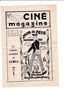 NAMUR-CINE-CAMEO-MAGAZINE-4 PAGES-06.01.1950-FILM-CINEMA-JOUR DE FETE-JACQUES TATI-TRES BIEN CONSERVE-VOYEZ 2 SCANS! ! ! - Programmes
