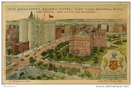 US NEW YORK CITY / The Manhattan Square Hotel, View From Central Park / CARTE COULEUR GLACEE - Cafés, Hôtels & Restaurants
