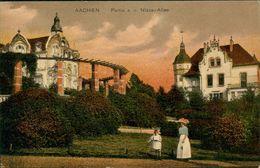 AK Aachen, Partie A. D. Nizza-Allee, Ca. 1910er Jahre (28160) - Aachen