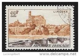 N° 1019  FRANCE  -  OBLITERE  -  PONT ST ETIENNE LIMOGES  -  1955 - Usados