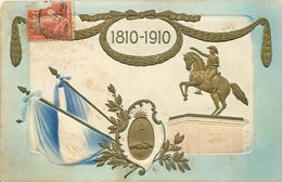 CENTENARIO 1810-1910.San Martin (carte Gaufrée). - Argentine