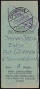 Landpost Gennach über SCHWABMÜNCHEN (LAND) 25.5.1946 Auf Paketkarten-Abschnitt - Bizone