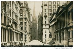 US NEW YORK CITY / Wall Street And Trinity Church / CARTE GLACEE - Wall Street